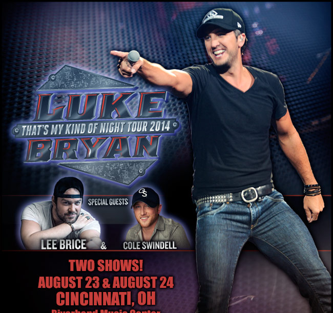 Luke Bryan - That's My Kind of Night Tour 2014 - August 23 & 4 - Detroit, MI - DTE Energy Music Theatre