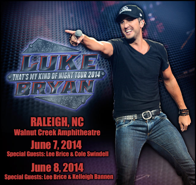 Luke Bryan - That's My Kind of Night Tour 2014 - June 7 & 8 - Raleigh, NC - Walnut Creek Amphitheatre