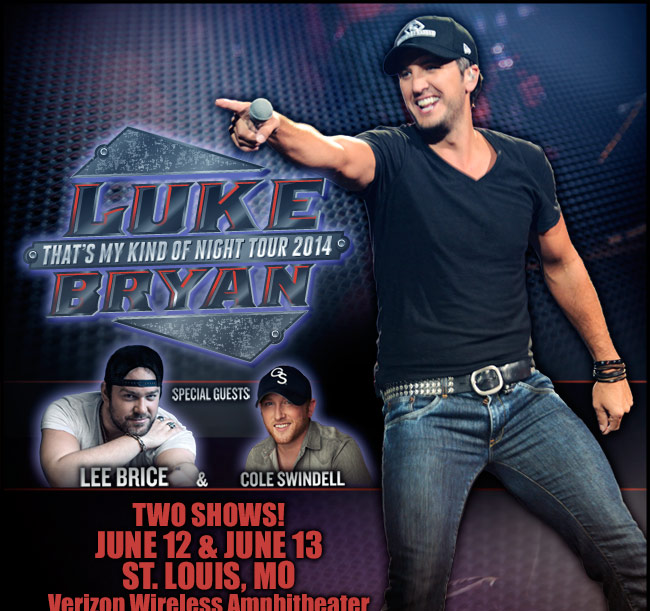 Luke Bryan - That's My Kind of Night Tour 2014 - June 12 & 13 - St. Louis, MO - Verizon Wireless Amphitheater